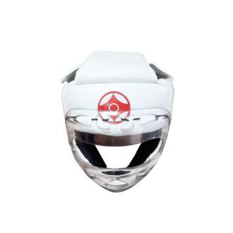 Шлем для каратэ с пластмассовой маской